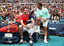MOC-019 Player chairs witnessed Federer win 101st title in Miami Open