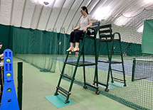 Look what's going on with the umpire chair UHS supplied 13-year ago